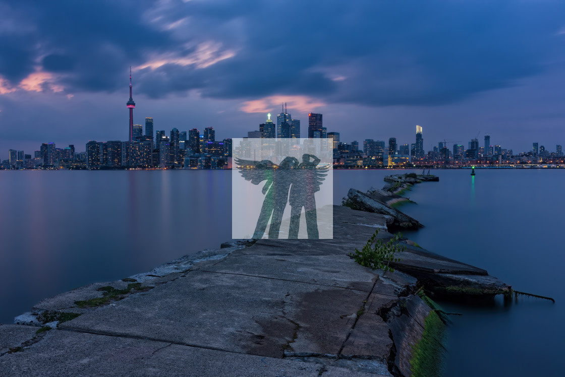 """Toronto Skyline at Dusk"" stock image"
