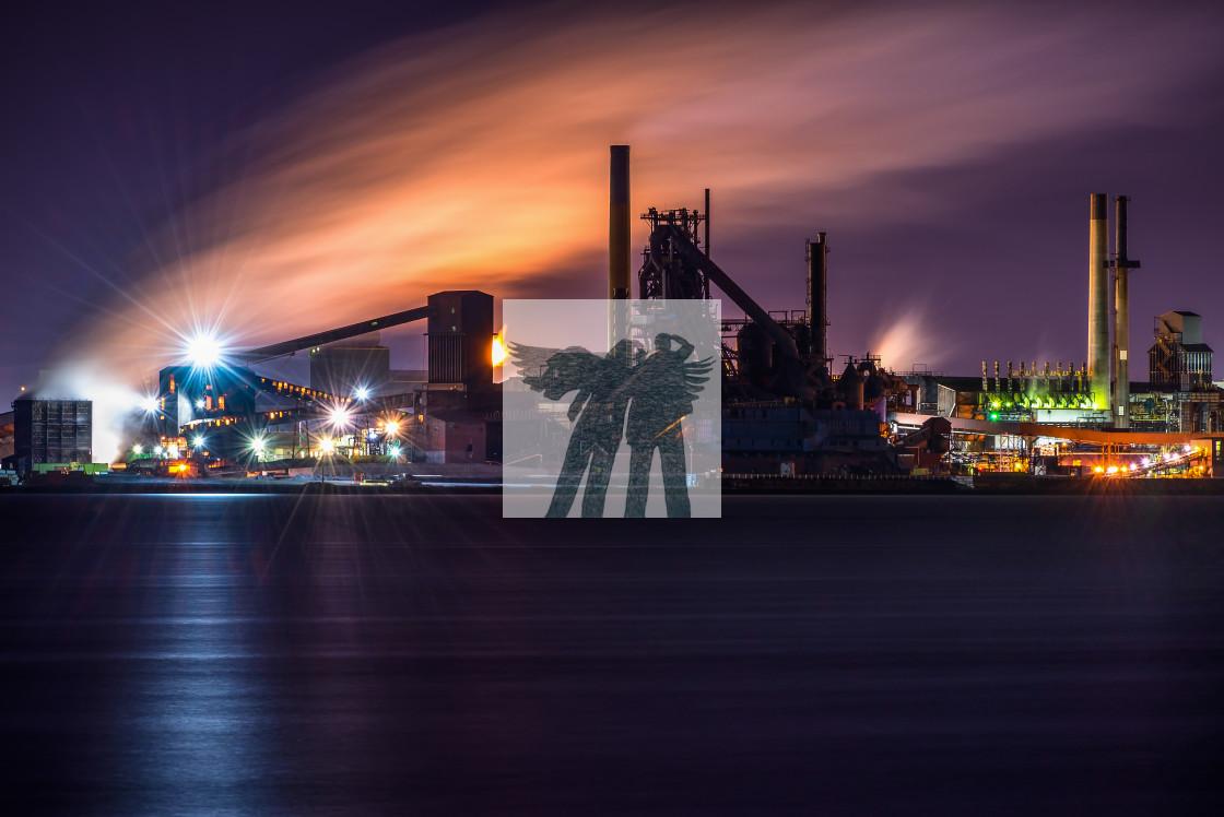 """Industrial Smoke Show"" stock image"