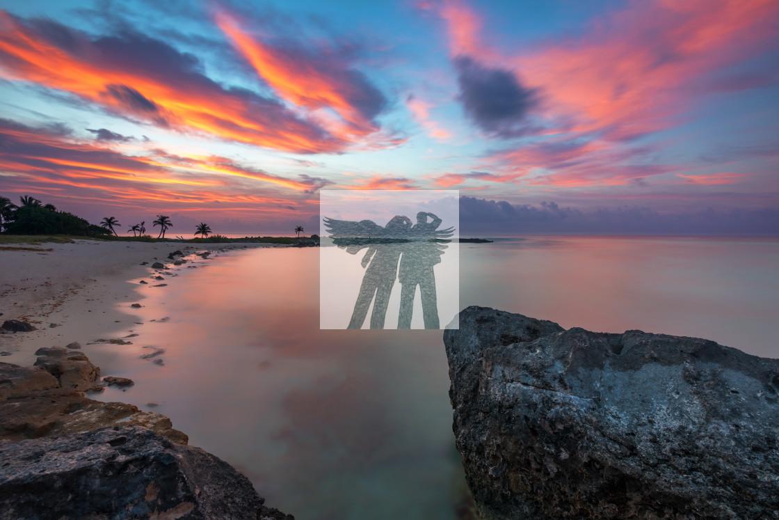 """Akumal Sunrise"" stock image"