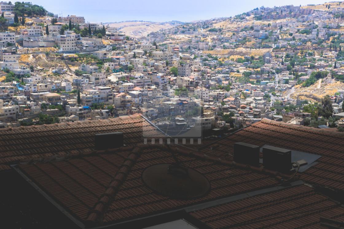 """""""Neighborhood at Jerusalem, Israel"""" stock image"""