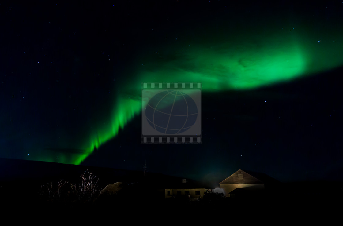 """Northern Lights at Iceland"" stock image"