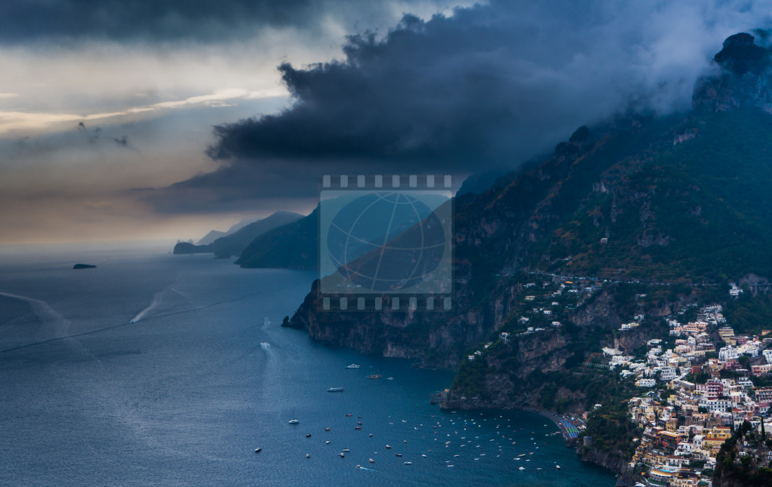 """View to Positano at Amalfi coast"" stock image"