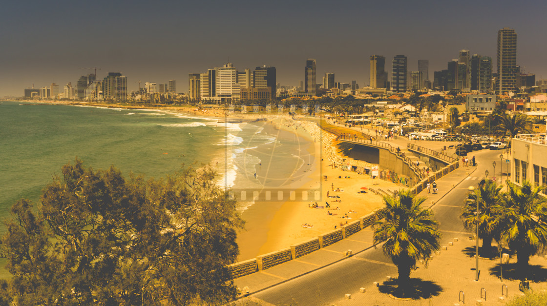 """Tel Aviv city skyline"" stock image"
