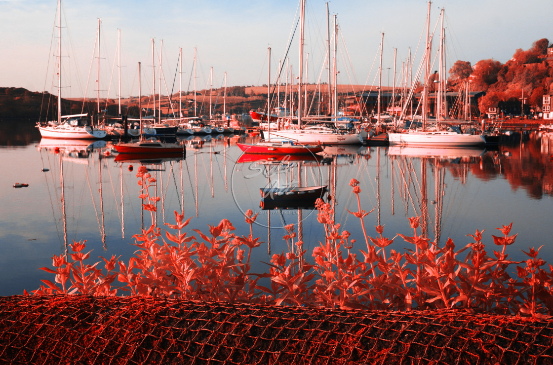"""Infrared Harbour"" stock image"