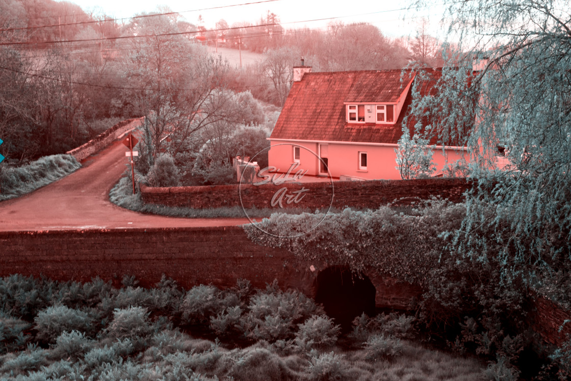 """""""Cottage in Infrared"""" stock image"""