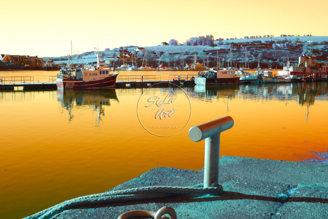 """Golden Marina"" stock image"