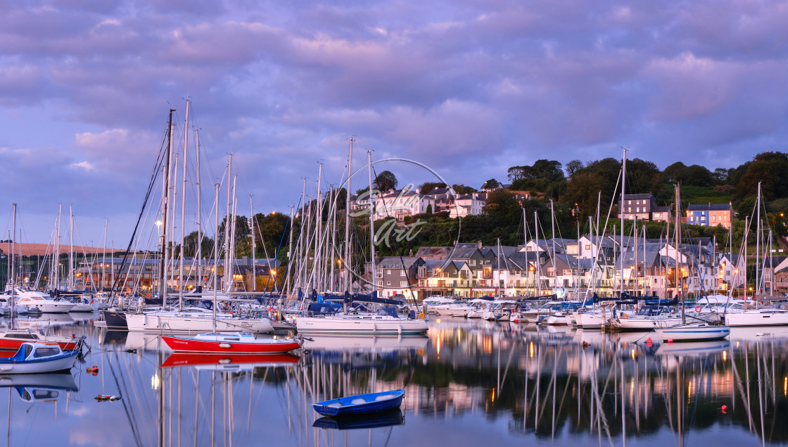"""Sunrise over Kinsale"" stock image"