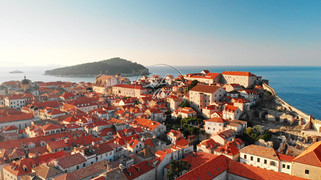 """Dubrovnik in the morning"" stock image"