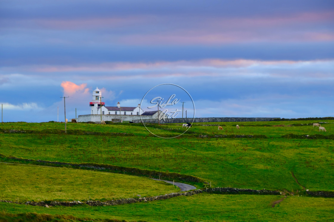 """Galley Head Lighthouse in Autumn"" stock image"