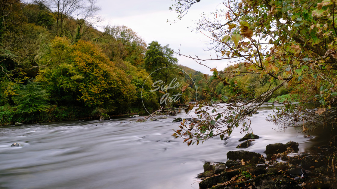 """""""Autumn over River"""" stock image"""