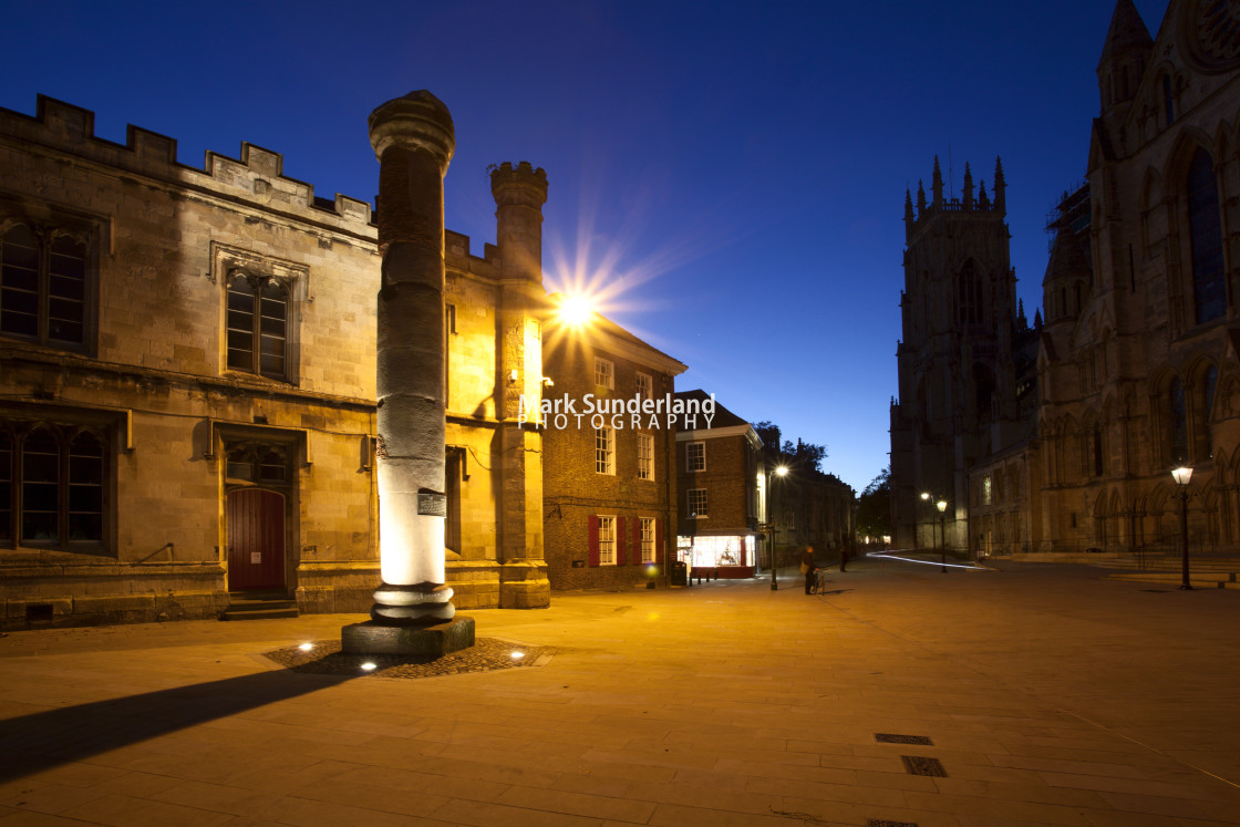 """""""Minster Piazza in York at Dusk"""" stock image"""