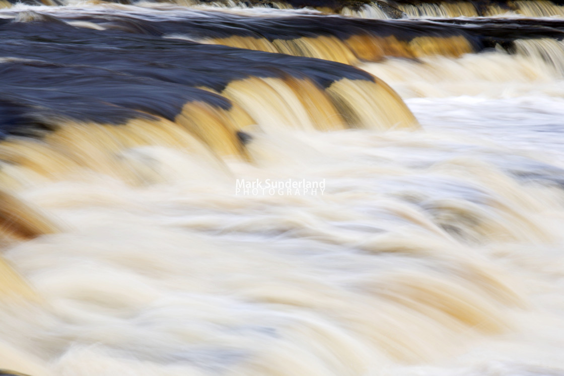 """Falls on the River Ure near Aysgarth Wensleydale Yorkshire Dales"" stock image"