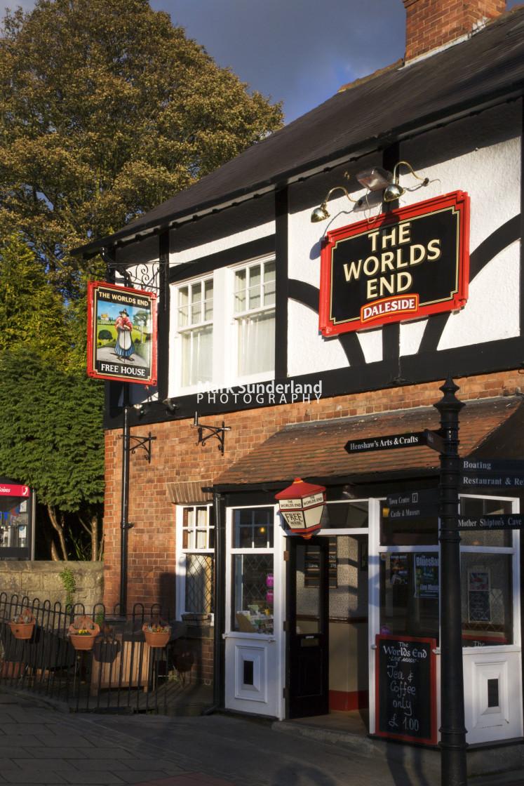 """The Worlds End Pub Knaresborough North Yorkshire England"" stock image"