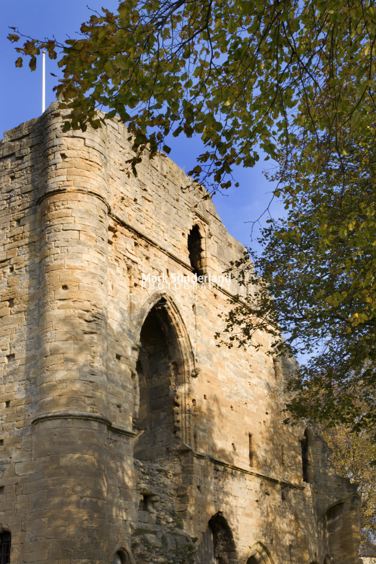 """Knaresborough Castle in Autumn North Yorkshire England"" stock image"