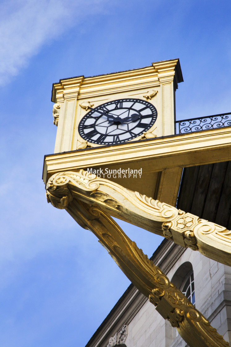 """Civic Hall Clock Leeds West Yorkshire England"" stock image"