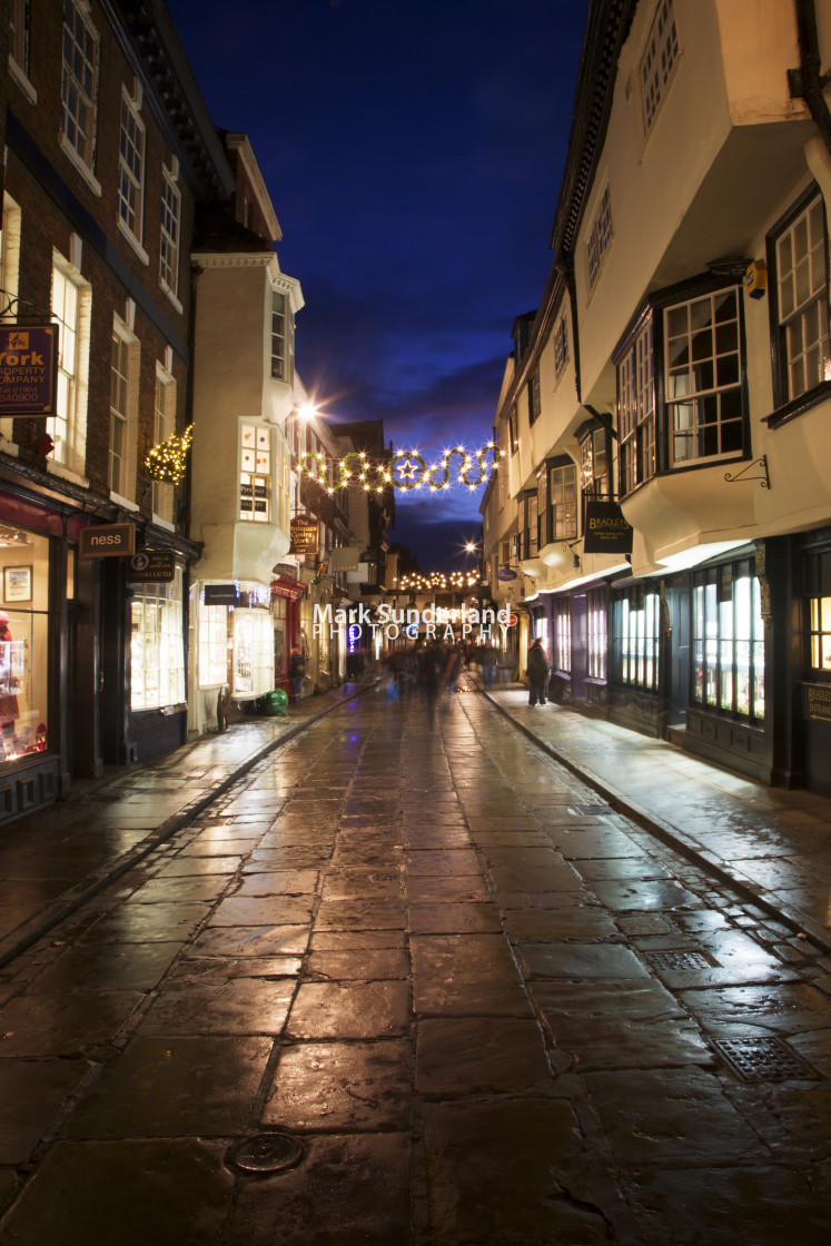 """Stonegate at Christmas York"" stock image"