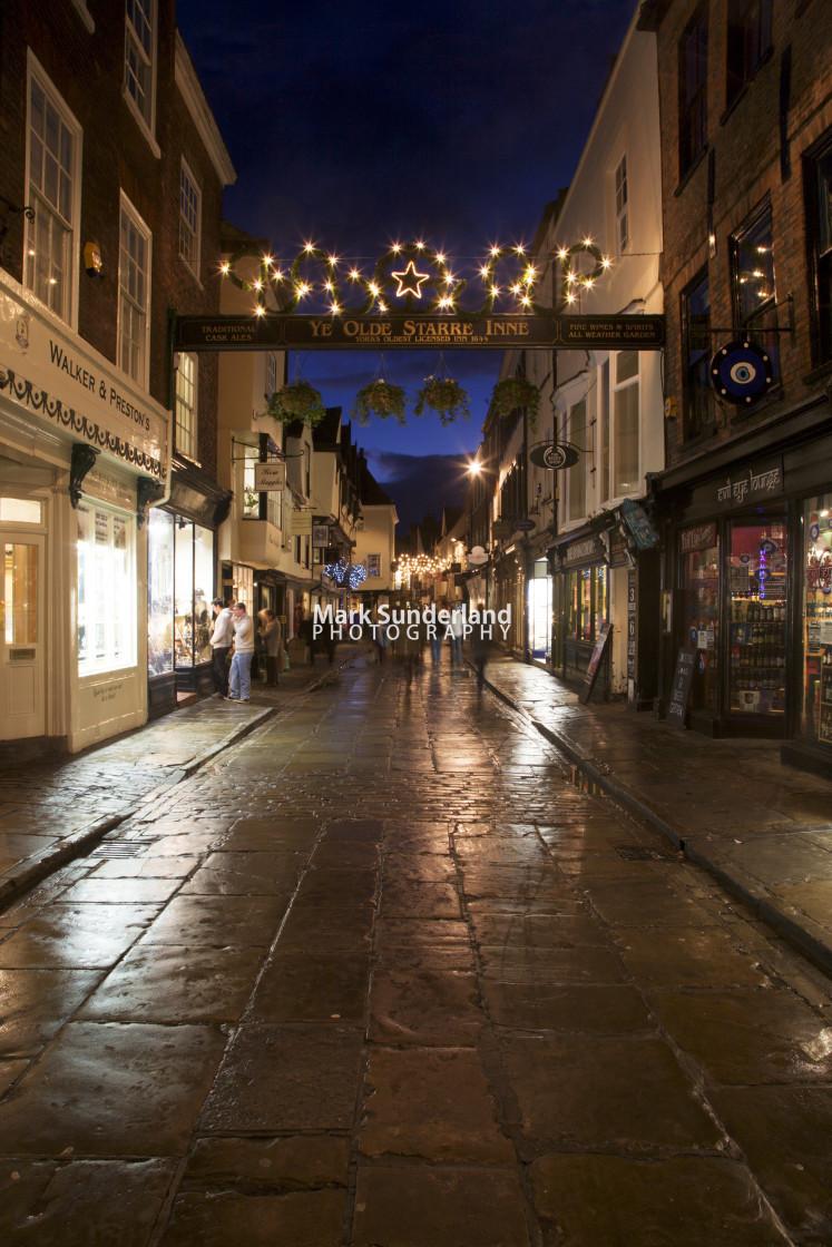 """Stonegate at Christmas York Yorkshire England"" stock image"