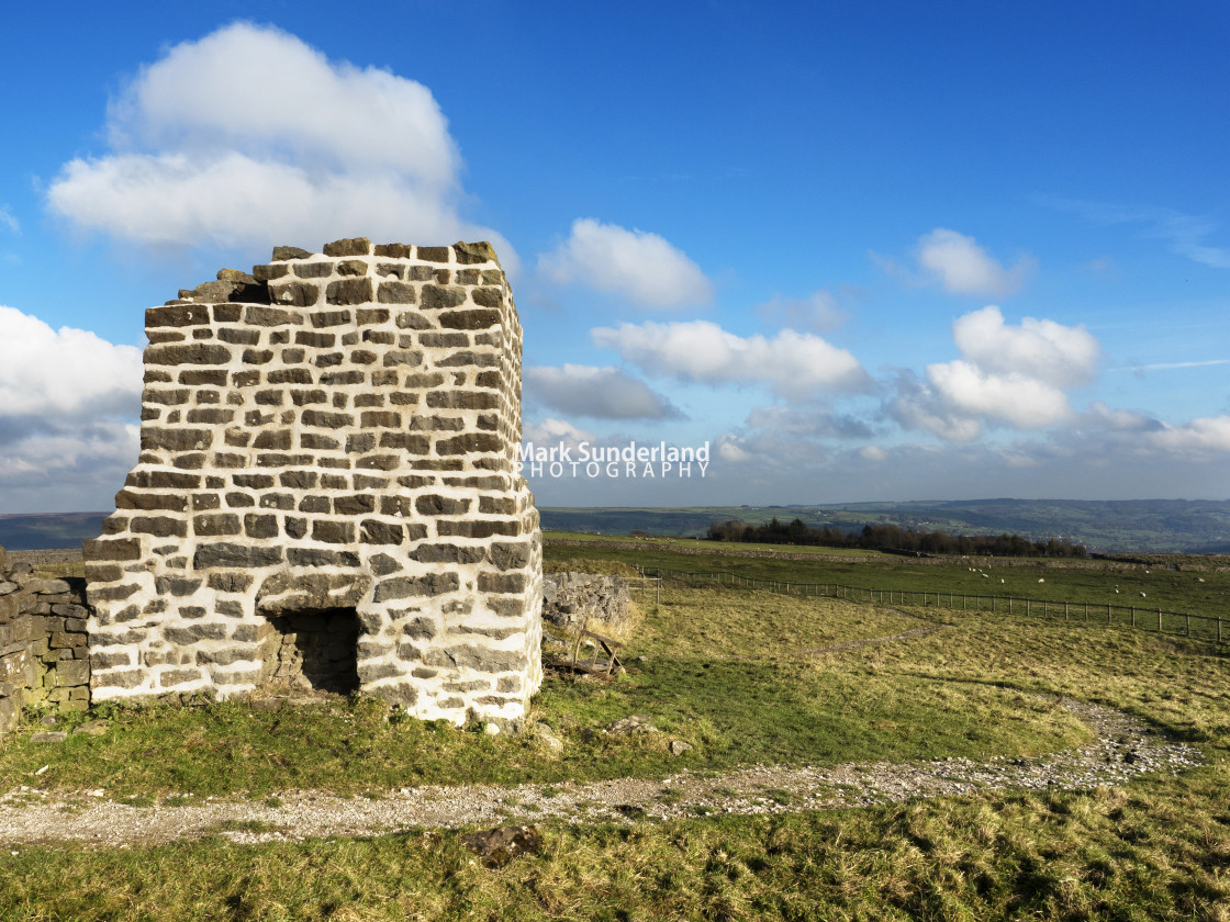 """""""Toft Gate Lime Kiln at Greenhow"""" stock image"""
