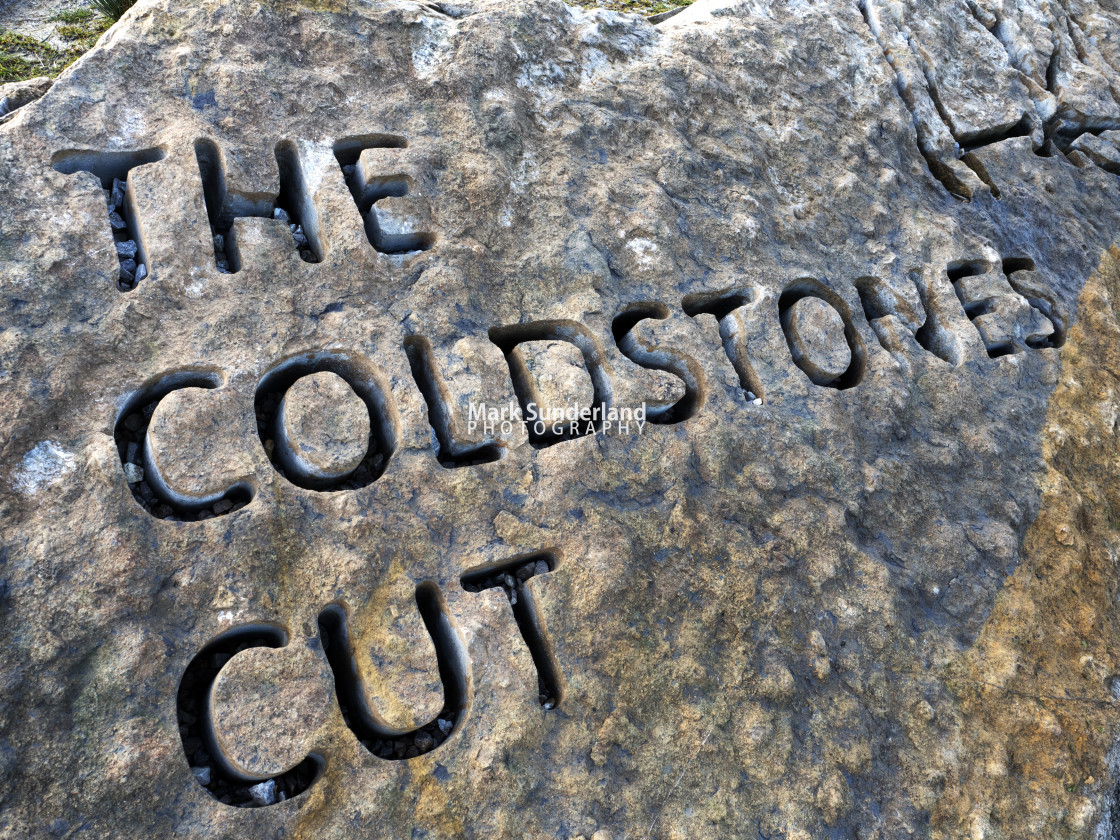 """The Coldstones Cut at Greenhow"" stock image"