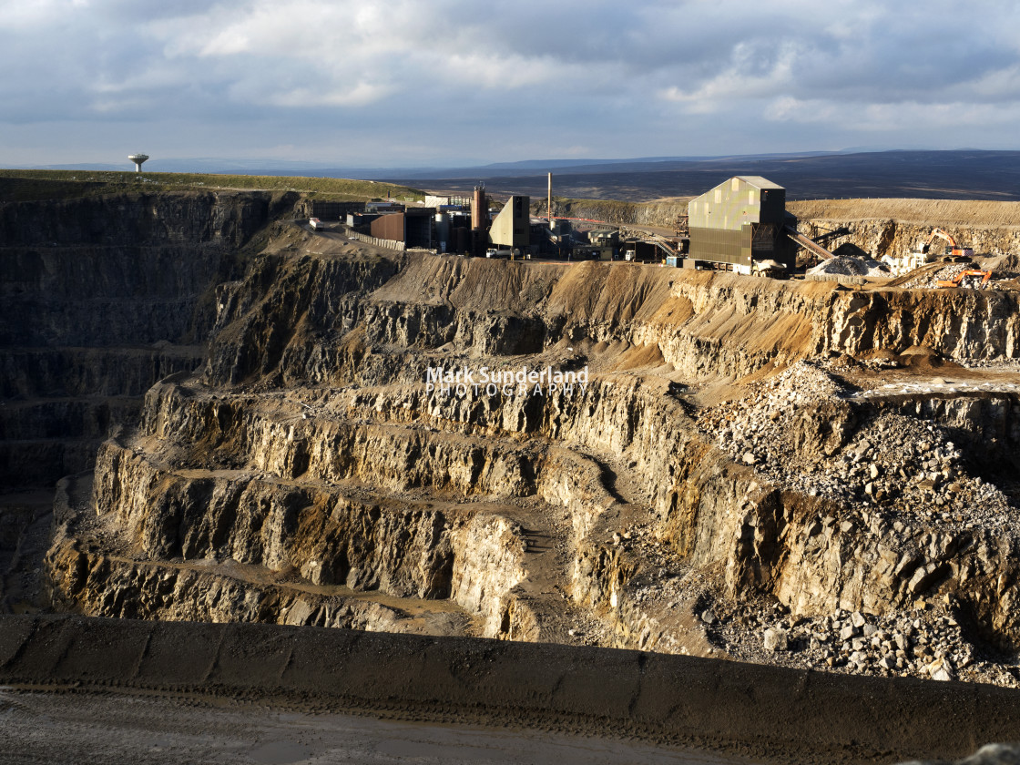 """Coldstones Quarry at Greenhow"" stock image"