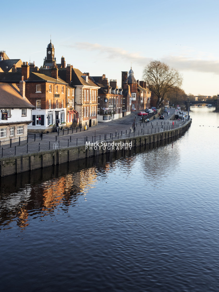 """""""Kings Staith on a Winter Afternoon at York"""" stock image"""