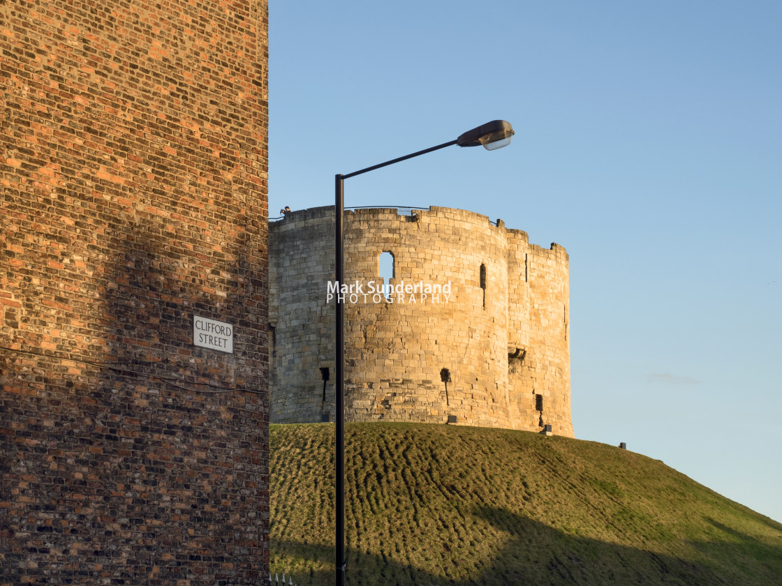 """""""Cliffords Tower at York"""" stock image"""