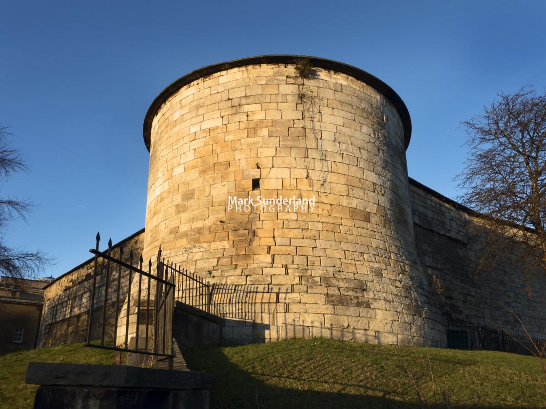 """Corner Tower at York Castle"" stock image"