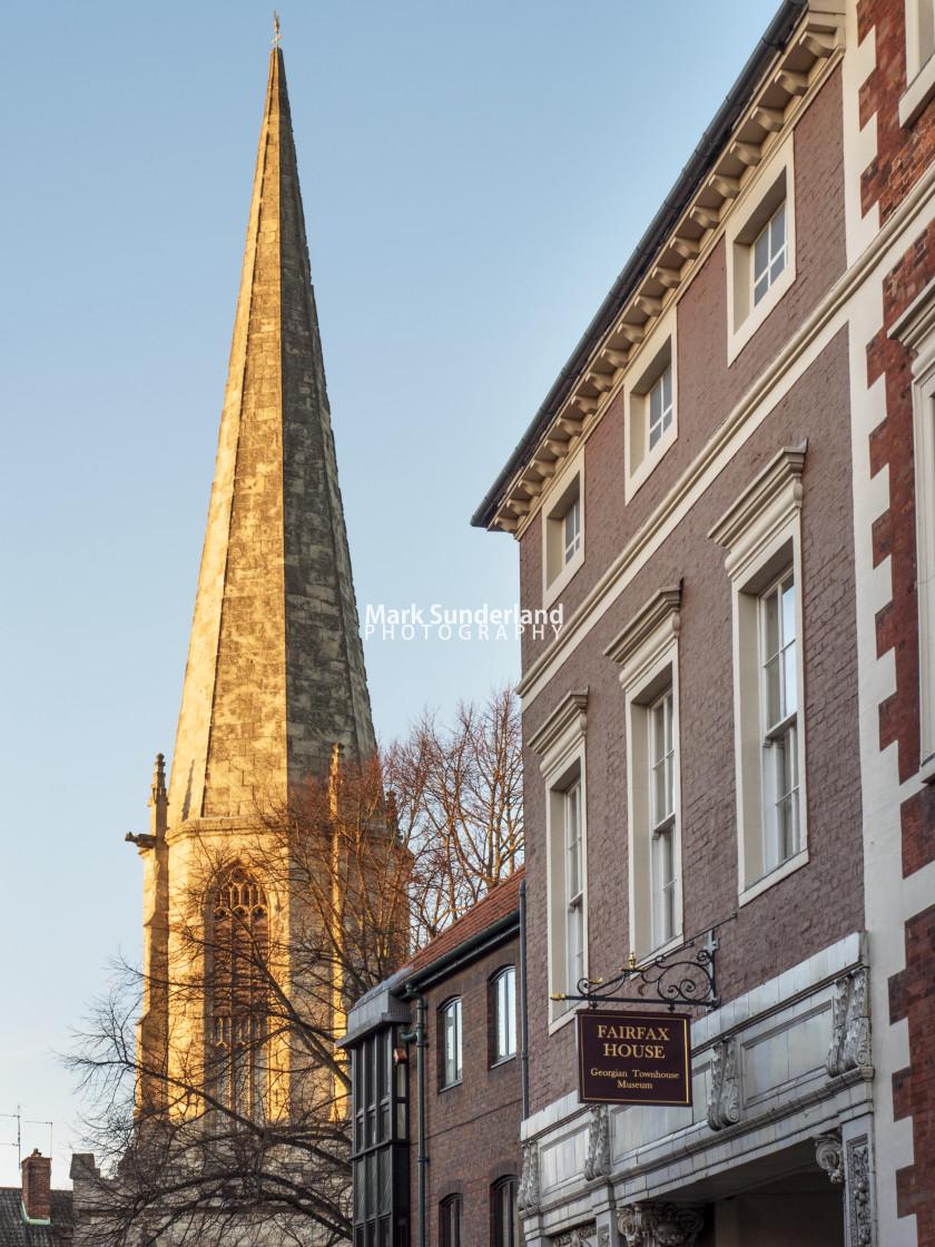 """York St Marys and Fairfax House"" stock image"