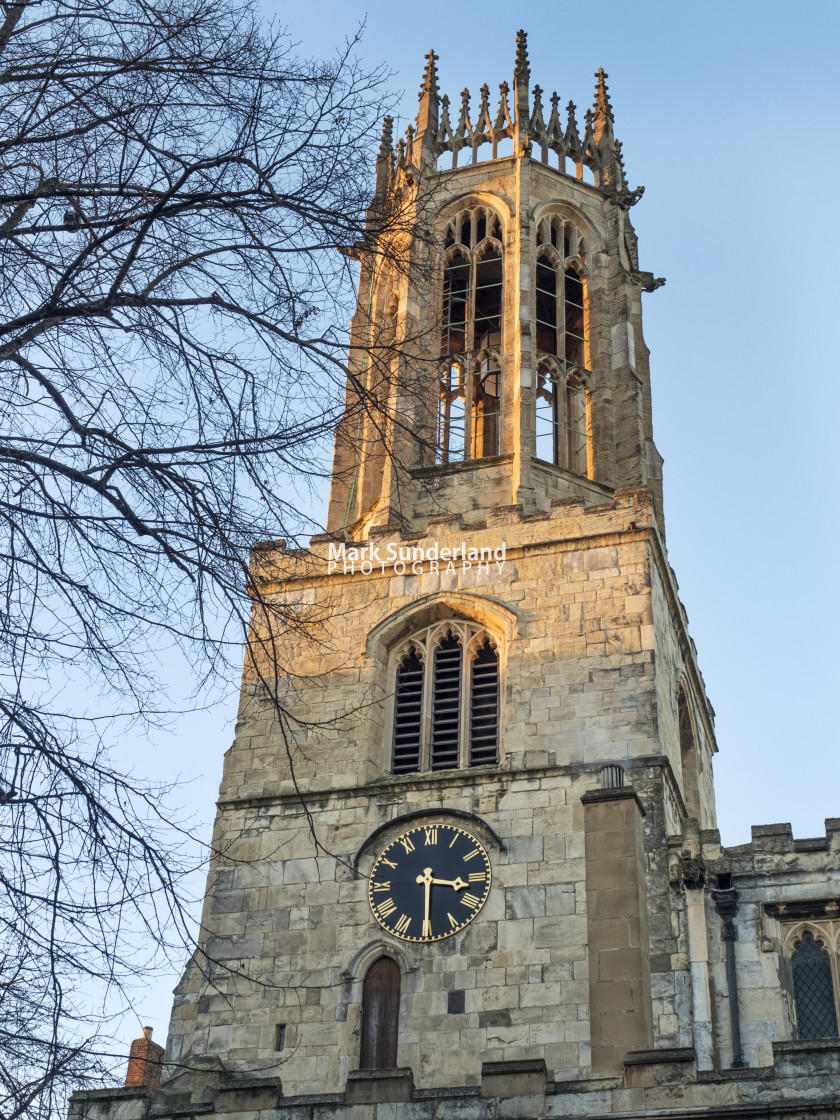 """All Saints Pavement Church in York"" stock image"