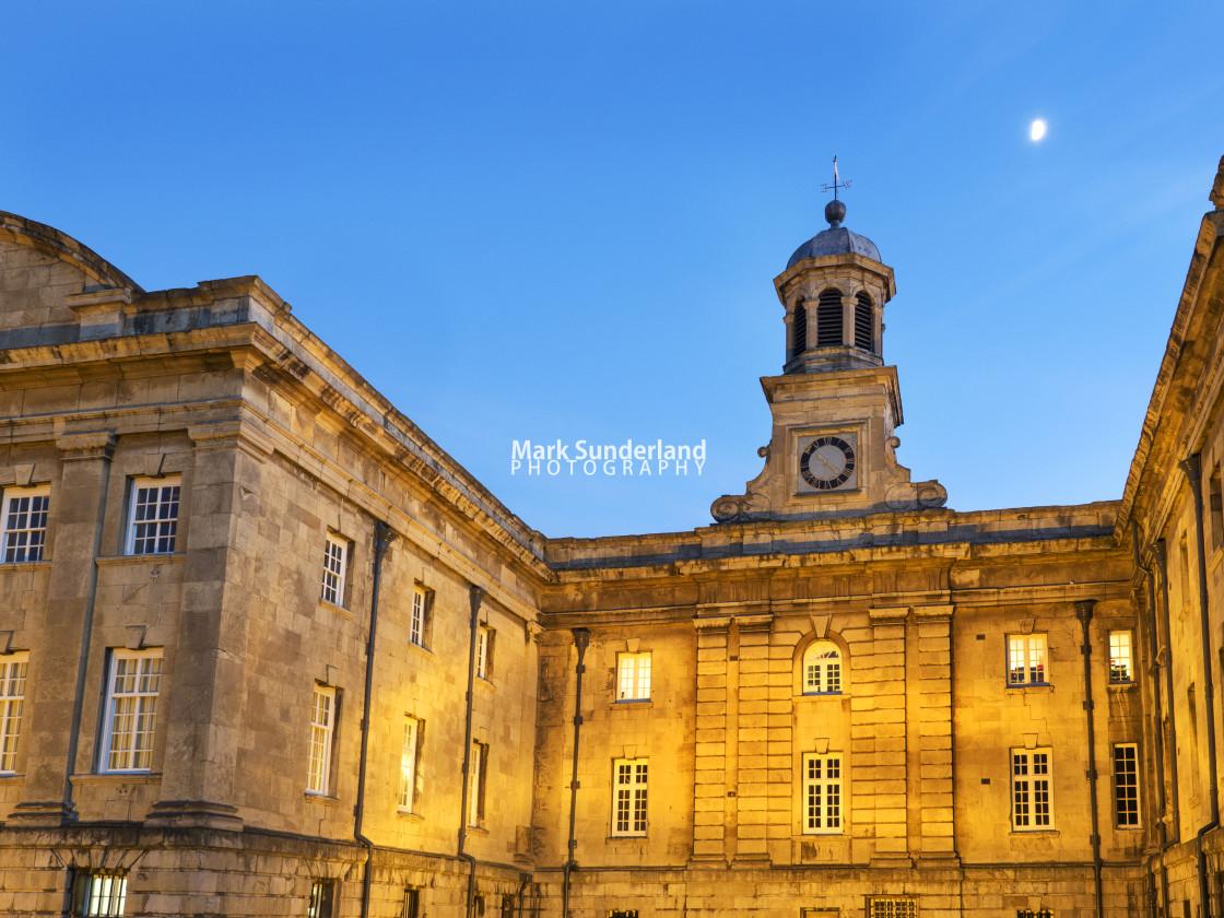 """York Castle Museum In Twilight"" stock image"
