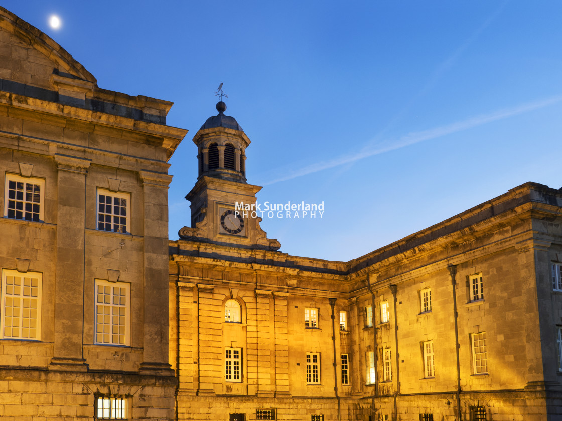 """York Castle Museum at Dusk"" stock image"