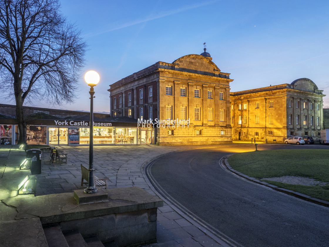 """""""York Castle Museum at Dusk"""" stock image"""