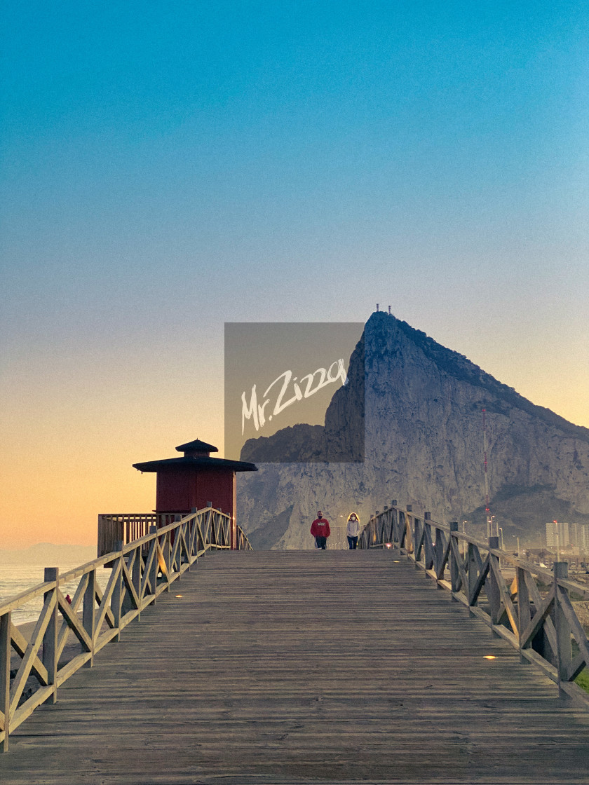 """""""The rock of Gibraltar"""" stock image"""