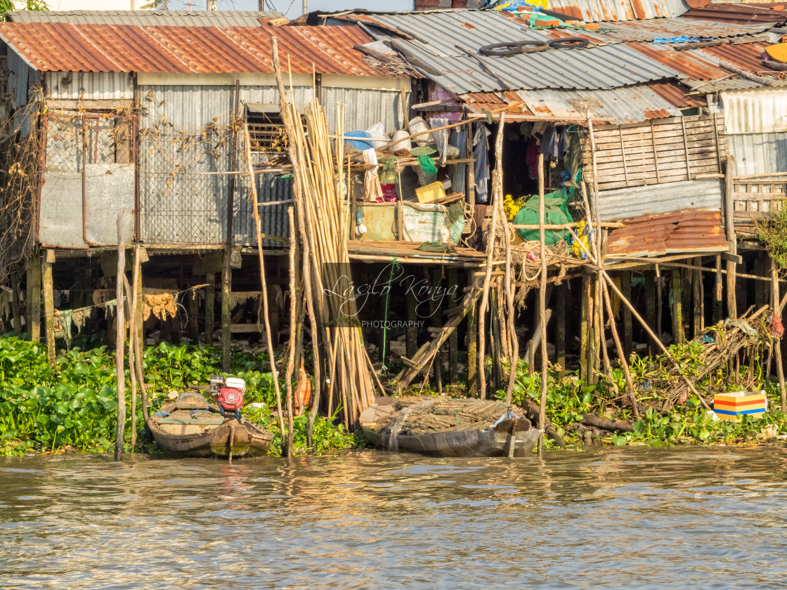 """Life along the Hau River - Can Tho"" stock image"