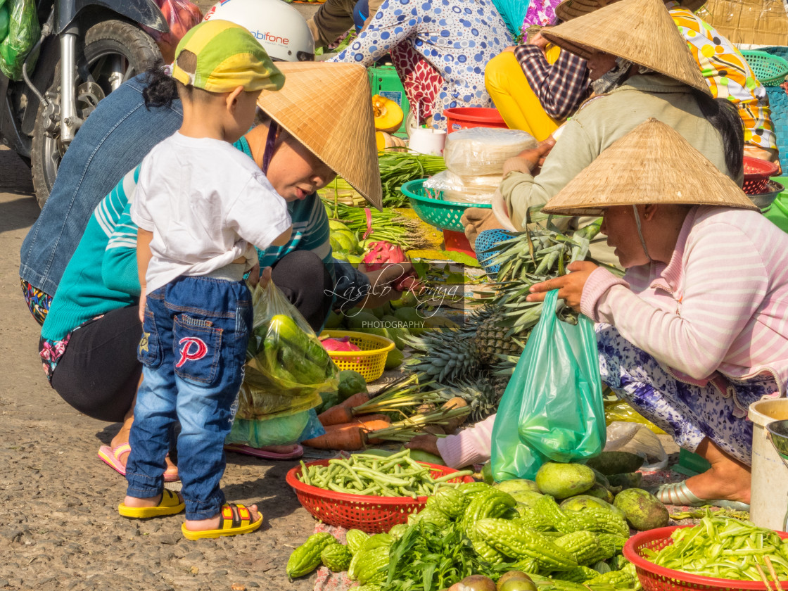 """On the local market - Cho An Binh"" stock image"