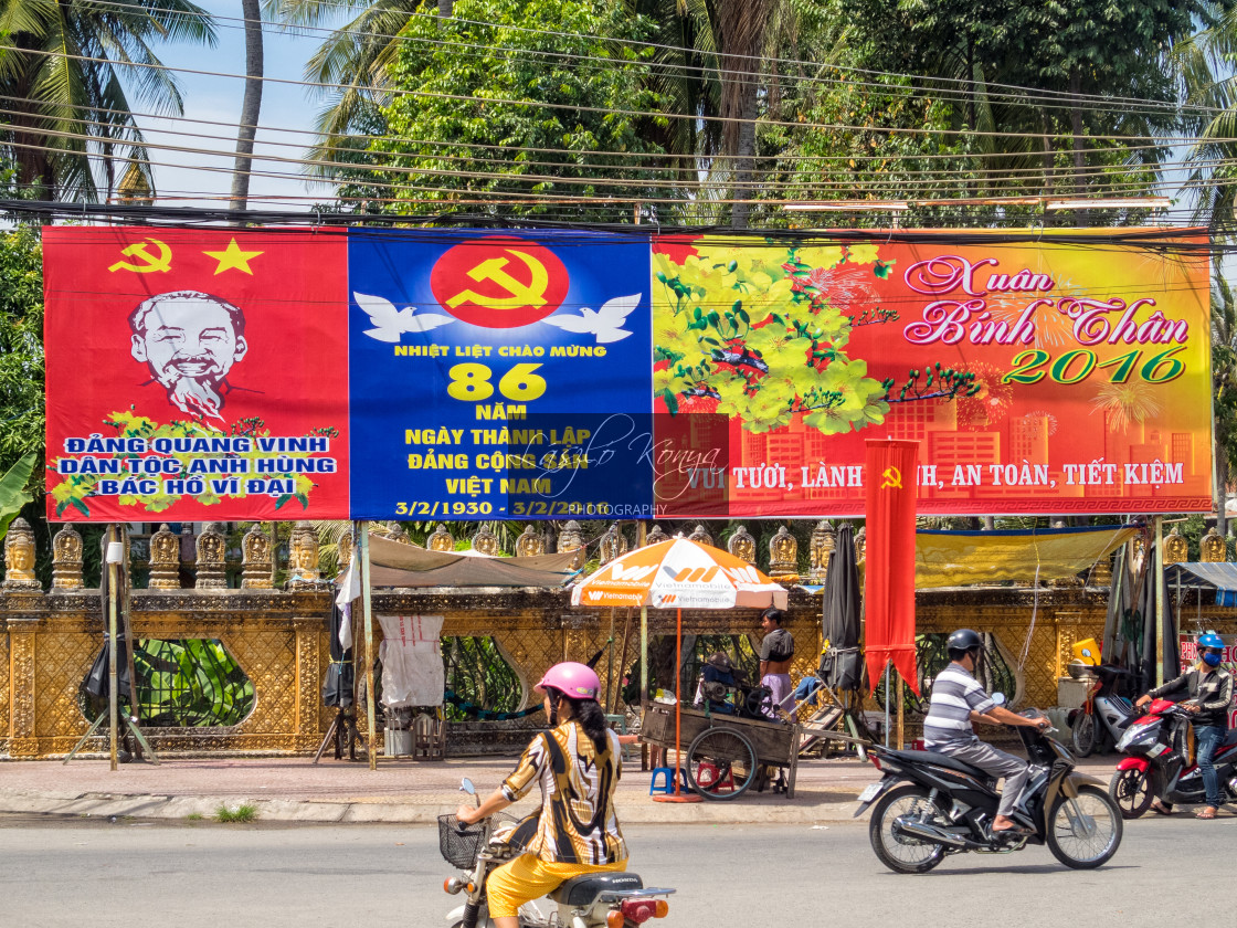 """""""Billboards - An Dinh"""" stock image"""
