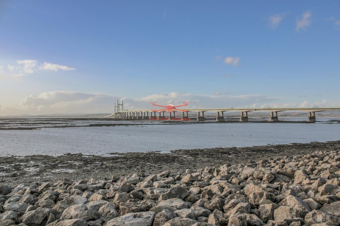 """The Severn Bridge Crossing, Chepstow, Avon, UK. November 2020"" stock image"