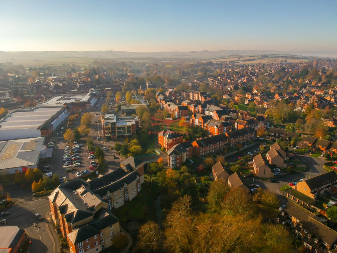 """""""November morning Wantage, Oxfordshire"""" stock image"""