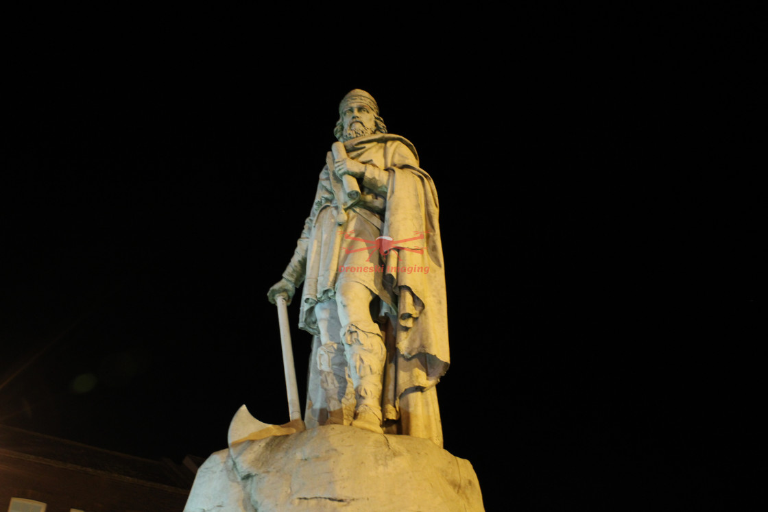 """""""King Alfred the Great, Wantage"""" stock image"""
