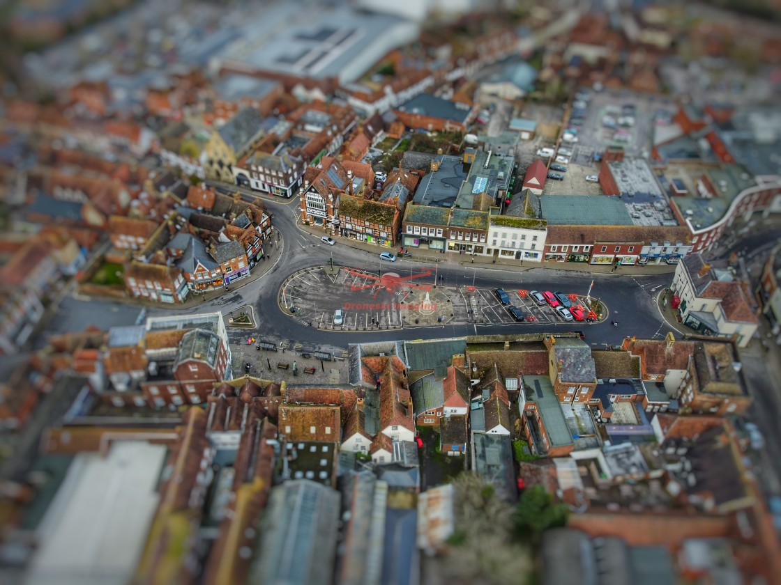 """""""Toy Town Market Place, Wantage, Oxfordshire"""" stock image"""