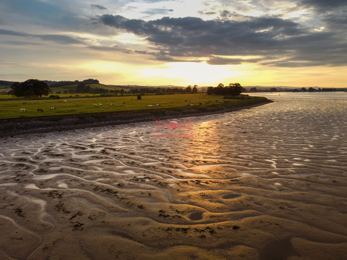 """""""Sunset on the River Exe"""" stock image"""