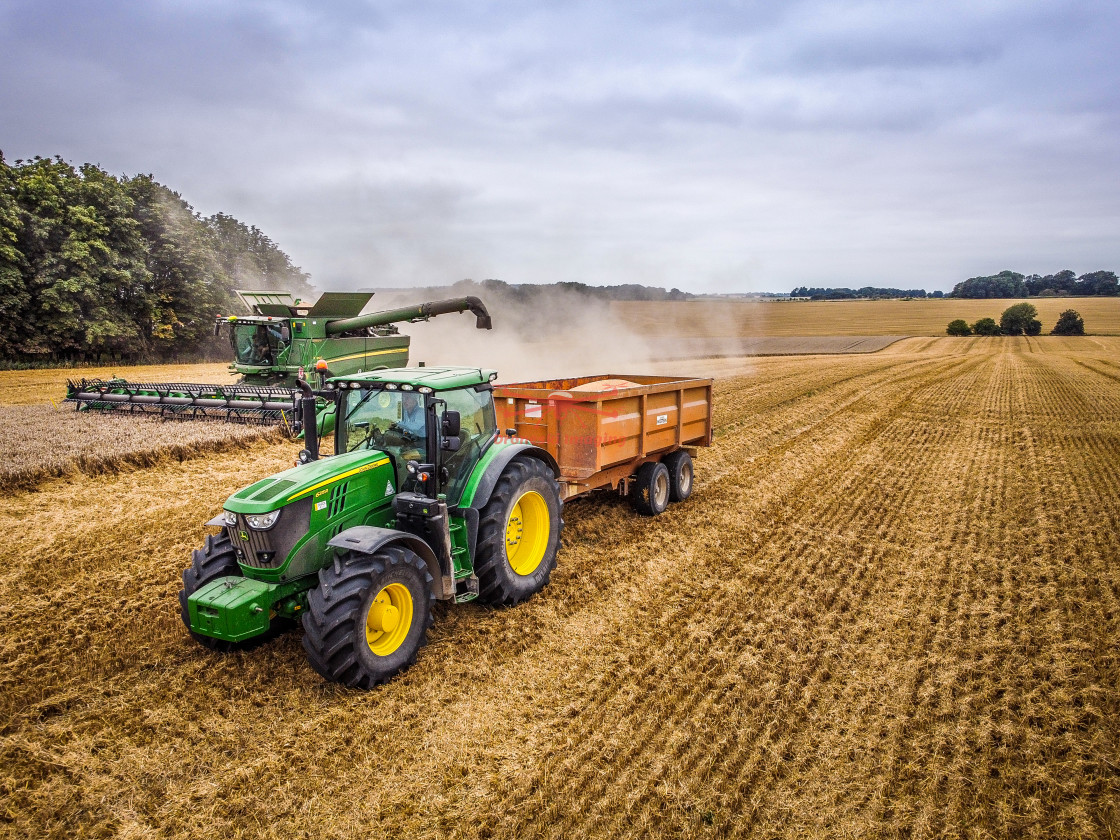 """""""Tractor and Combine Harvester"""" stock image"""