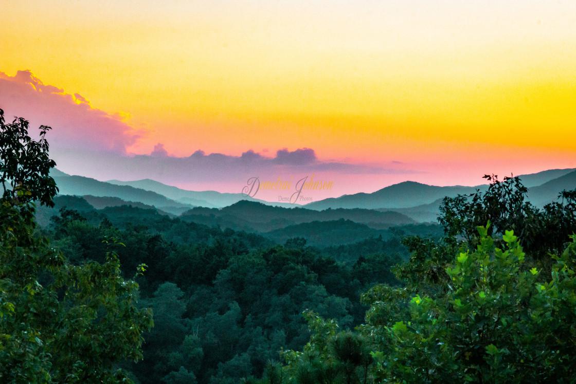 """The Evening Sunset"" stock image"