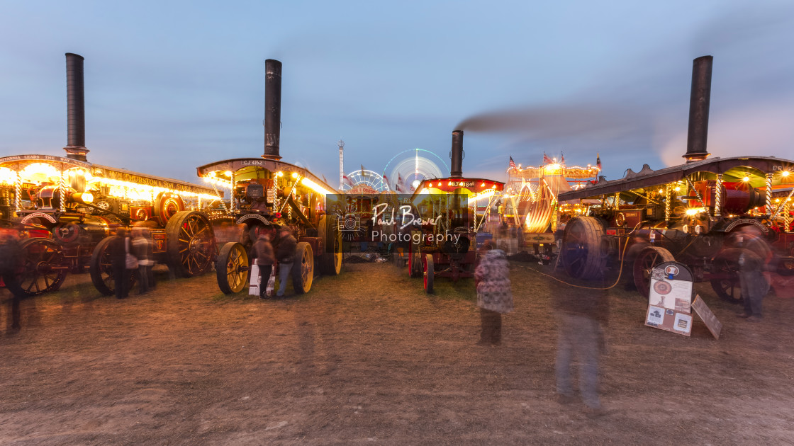 """""""Steam Line up at the Great Dorset Steam Fair"""" stock image"""
