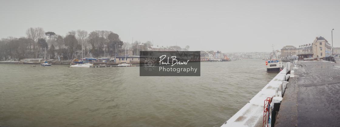 """Weymouth Snow Scene"" stock image"