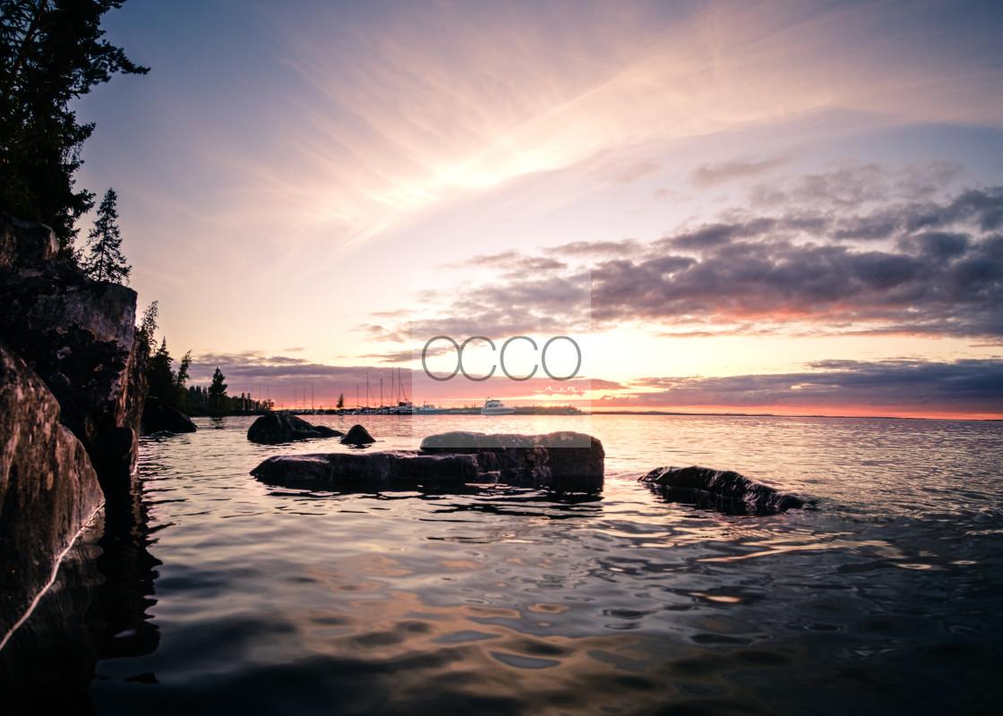 """Magical sunset"" stock image"