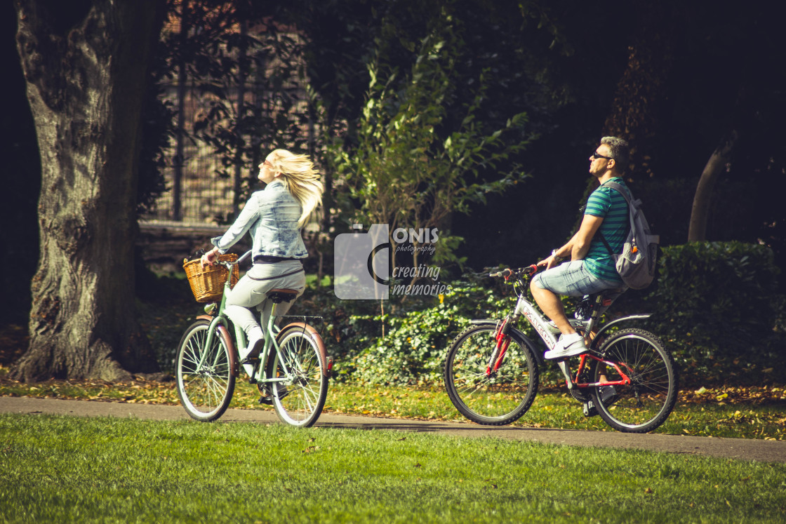 """Cycle Walk"" stock image"