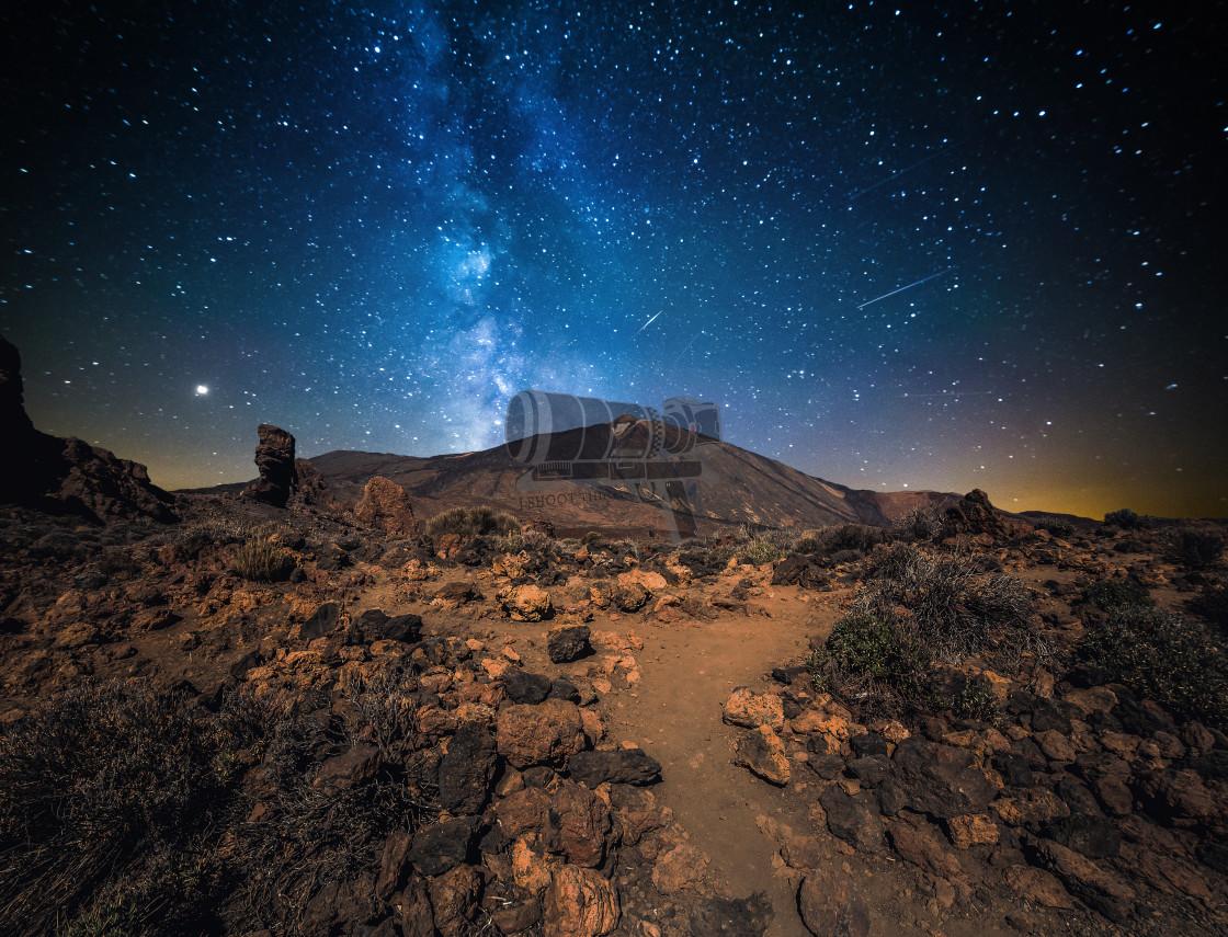 """""""Teide at night"""" stock image"""