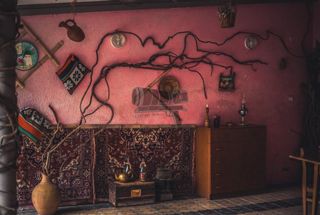 """Pink wall"" stock image"