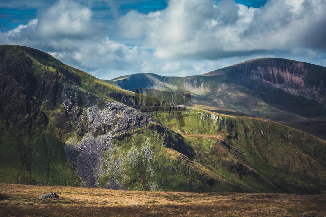 """Snowdonia landscape"" stock image"